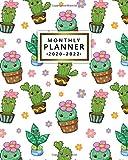 2020-2022 Monthly Planner: Cute Kawaii Cactus Three Year Calendar & Agenda with...