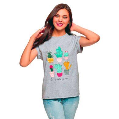 Camisetas de mujer con cactus