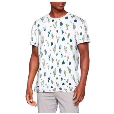 Camiseta blanca con cactus de hombre