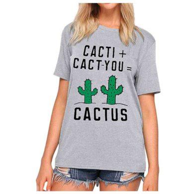 Camiseta de cactus para mujer