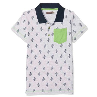 Camiseta de manga corta de cactus para niño