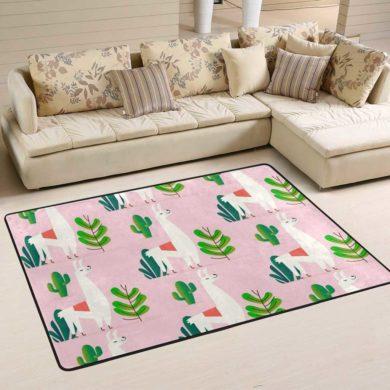 Alfombra de cactus y animales