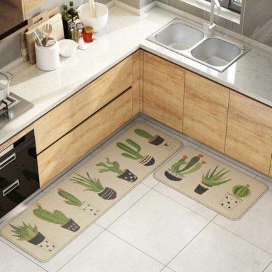Alfombra de cocina de cactus