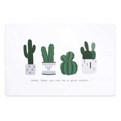 Alfombra vinilica de cactus