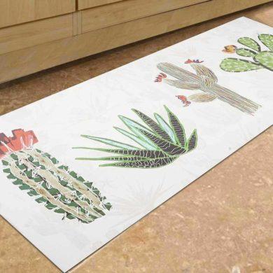 Alfombra de vinilo con cactus