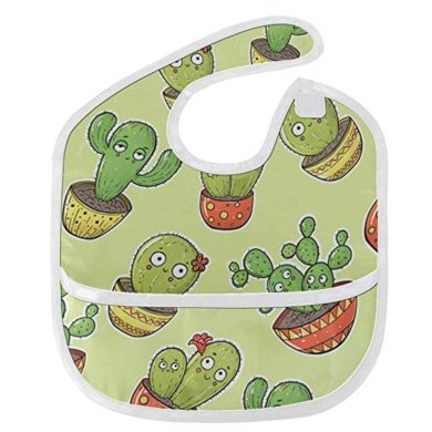 Babero para bebé impermeable de cactus