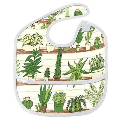 Babero con dibujos de cactus