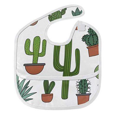 Babero impermeable de cactus