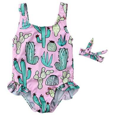 Bañador para bebe niña rosa