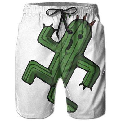 Bañador de cactus para hombre con estampado blanco