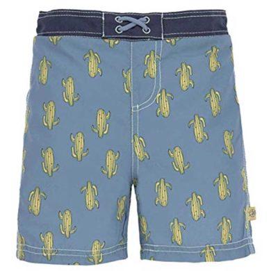 Bañador de cactus para niño azul