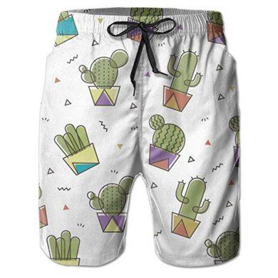 Bañador de niño con cactus estampados