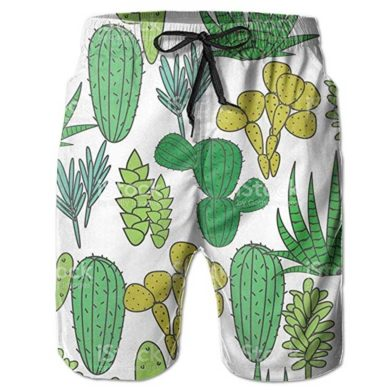 Bañador para hombre estampado con cactus
