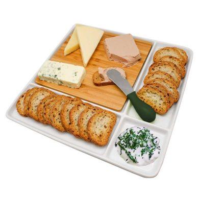 Bandeja para aperitivos blanca