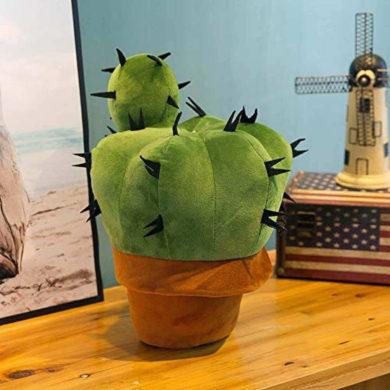 Cactus de peluche con maceta