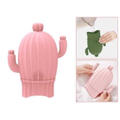 Bolsa de agua caliente de cactus rosa