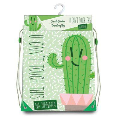 Bolsa de tela con cuerdas de cactus