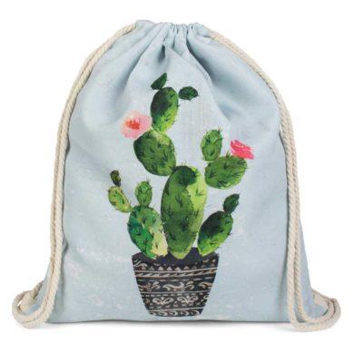 Bolsa de tela estampada de cactus