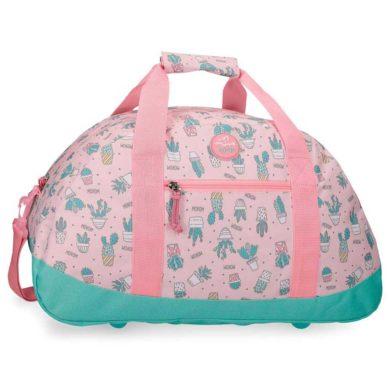 Bolsa de viaje de cactus rosa