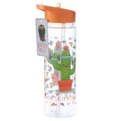 Botella de agua de plástico