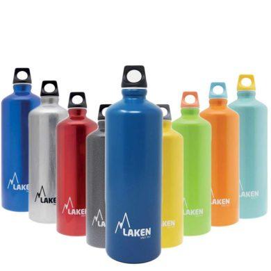 Botella de aluminio de colores