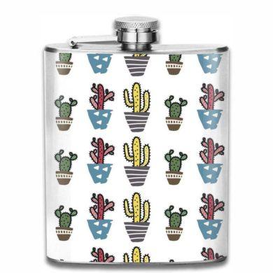 Botella de petaca de cactus