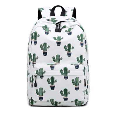 Mochila de cactus blanca
