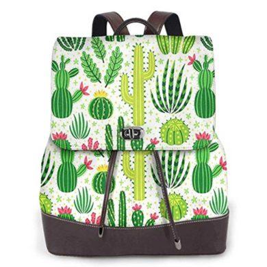 Mochila de cuero de cactus