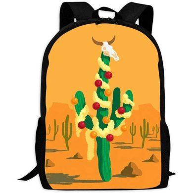 Mochila de viaje con cactus estampado