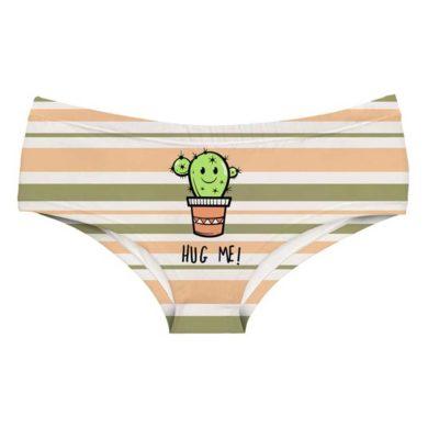 Braga de rayas con cactus