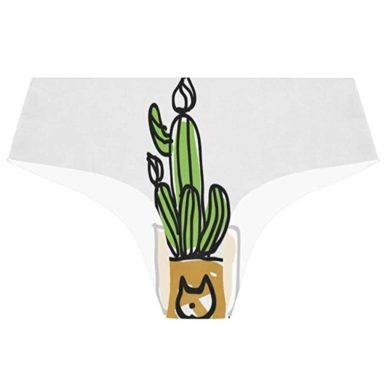 Braguita gris con cactus