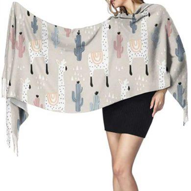 Bufanda de pashmina estampada grande