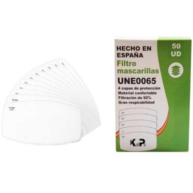 Filtro 4 capas para mascarilla y tapabocas