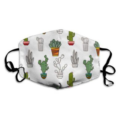 Mascarilla de cactus estampada