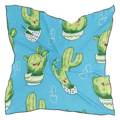 Pañuelo azul de cactus