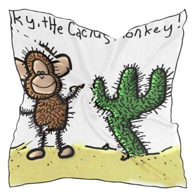 Pañuelo estampado de cactus
