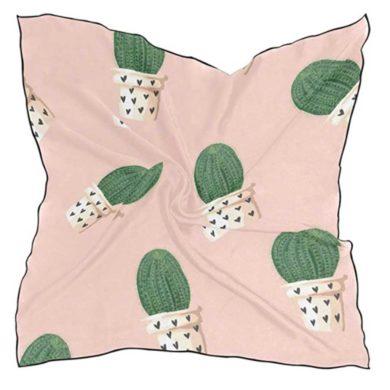 Pañuelo rosa de cactus